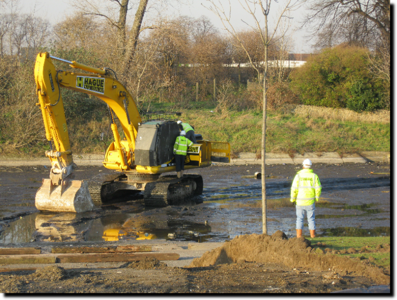 Barking Park Lake Dredging 31st January 2011