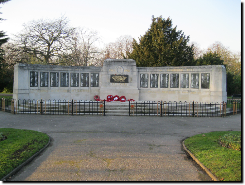 War Memorial Barking Park 31st January 2011